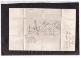E64  -   BRUXELLES  5.7 1849    /   LETTERA  PREFILATELICA SPEDITA A  BRUXELLES - 1830-1849 (Independent Belgium)