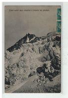 74 CHAMONIX #13086 CHOIX ENTRE DEUX CHEMINS A TRAVERS GLACIER + PAIRE SEMEUSE 5C PERFORE E H - Chamonix-Mont-Blanc