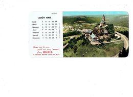 Grand Calendrier AOUT 1966 - Publicité Serrure RUBIS Rue Danjou BOULOGNE SUR SEINE - DABO Moselle - Buvard Au Dos - Calendriers