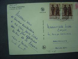 1961 - Timbres Du KATANGA - Sur Carte Postale - Katanga