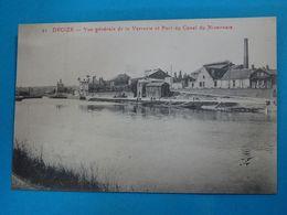 58 ) Decize N° 21 - Vue Générale De La Verrerie Et Port Du Canal Du Nivernais - Année   EDIT : - Decize