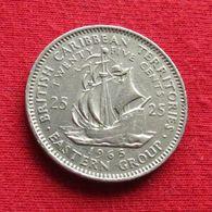 British Caribbean Territories 25 Cents 1965 KM# 6  Caraibas Caraibes Orientales Eastern - Ostkaribischer Staaten