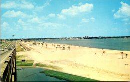 Louisiana Lake Charles Beach View From Route 10 Bridge - Etats-Unis