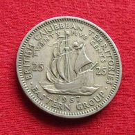 British Caribbean Territories 25 Cents 1957 KM# 6 *V1 Caraibas Caraibes Orientales Eastern - Ostkaribischer Staaten