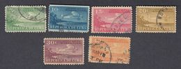 Cuba, Scott #C4-C9, Used, Plane And Coast Of Cuba, Issued 1931 - Luchtpost