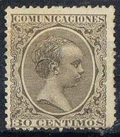 Sello  30 Cts Alfonso XIII Pelon, TELEGRAFOS, Perforado Telegrafico , Num 222T º - Telegramas