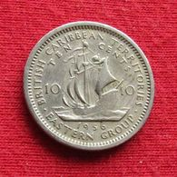 British Caribbean Territories 10 Cents 1956 KM# 5 Caraibas Caraibes Orientales Eastern - Ostkaribischer Staaten