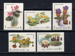 RUSSIE - N° 5095/5099** - PLANTES AQUATIQUES - Neufs