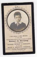 Doodsprentje KIND ENFANT E.M.G.C.I.V ROTSART De HERTAING °1891 BRUGES +1901 Bruges // De KERCKHONE D'EXAERDE - Images Religieuses