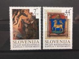 (773) SLOVENIA 1993 : Sc# 168-169 MNH VF ALTARPIECE BY TINTORETTO CHURCH NOVO MESTO - Religie