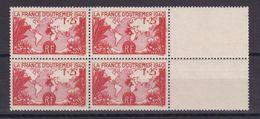 D165/ N° 453 BLOC DE 4 NEUF** COTE 14€ - France