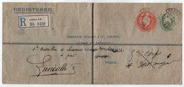 GB - KEVII / 1910 ENTIER POSTAL RECOMMANDE 2 FIGURINES POUR LA FRANCE - REEXPEDIE (ref 1511) - Storia Postale