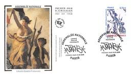 FRANCE. FDC. N°207072. 19/09/2015. Cachet Paris. Assemblée Nationale. Liberté. - FDC