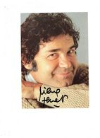 Grande Photographie Artiste Chanteur PIERRE PERRET - Autographe - Photos