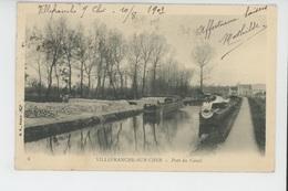 VILLEFRANCHE SUR CHER - Port Du Canal (péniches ) - Otros Municipios