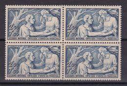 D165/ N° 498 BLOC DE 4 NEUF** COTE 44€ - Collections