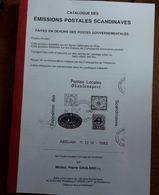 CATALOGUE DES EMISSIONS POSTALES SCANDINAVES - POSTES PRIVEES - En Français - Non Classés