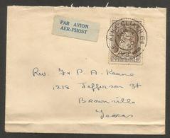 123gone. EIRE. 1950 (4 Nov). Aile Atha Gliath 64 - USA, Brownsville, TX. Air Fkd Env. VF Cond. - 1937-1949 Éire