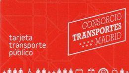 TARJETA TRANSPORTE PUBLICO - MADRID SPAGNA - CARD RICARICABILE - Week-en Maandabonnementen