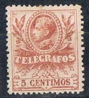Sello  5 Cpts Alfonso XIII 1905, TELEGRAFOS, Num 39 * - Telegramas