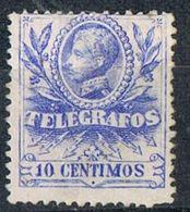 Sello  10 Cts Alfonso XIII 1905, TELEGRAFOS, Num 40 * - Telegramas
