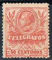 Sello  50 Cts Alfonso XIII 1905, TELEGRAFOS, Num 43 * - Telegramas