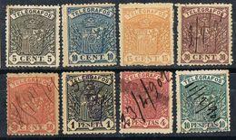 Serie Completa TELEGRAFOS 1901, Alfonso XIII  Num 31-38 º/* - Telegramas