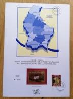 LUXEMBOURG * 1989 Gedenkblatt - Feuillet 150e Anniversaire De L'Indépendance - Timbre D'Oré - Tirage Limité - Luxembourg