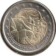 IT20005.1 - ITALIE - 2 Euros Commémo. Constitution Européenne - 2005 - Italy