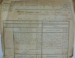 François Dejonghe De Saint-Olmer, Proposition De Mise à La Retraite, Maastrich, 1813 - Documentos Históricos