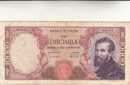 Banca D'Italia, Banconota Lire 10000 Michelangelo. Pieghe Ma Integra - 10000 Liras