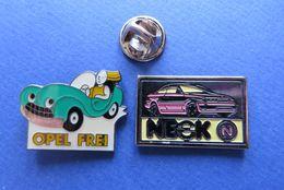 2 Pin's,AUTO, OPEL GARAGE,SUISSE - Opel