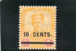 JOHORE 1903-4 * - Johore