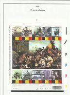 Belgique N° 3343 à 3352 ** NEUF 175 Ans De La Belgique Année 2005 - Belgique