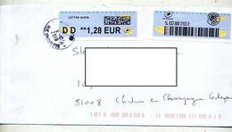 Lettre Suivie Cachet ??  Sur Vignette DD - 2000 «Avions En Papier»