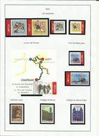 Belgique N° 3648 à 3654 + 3656 à 3658 Année 2007 - Belgium