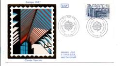 FDC 1987 EUROPA ARCHITECTURE - 1980-1989