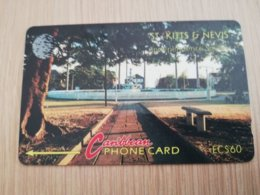 ST KITTS & NEVIS   GPT CARD $60,-   6CSKB     NO STK-6B   INDEPENDANCE SQUARE     Fine Used Card  **2340** - Saint Kitts & Nevis