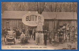 RARE CPA 25 BESANCON - Foire Exposition Comtoise (mai 1925) - Stand BUTTY Frères à PONTARLIER - Besancon