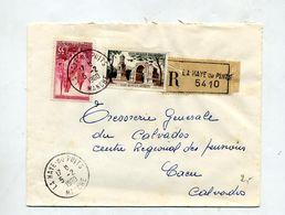 Lettre  Recommandée La Haye Du Puits Sur Strasbourg Saint Remy - Marcophilie (Lettres)