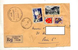 Lettre  Recommandée Courbevoie Sur Bijou Lourdes - Marcophilie (Lettres)