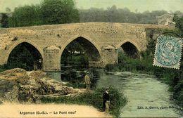 Argenton Chateau * 1906 * Le Pont Neuf * Cpa Toilée Colorisée - Argenton Chateau