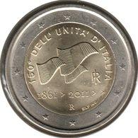 IT20011.1 - ITALIE - 2 Euros Commémo. Unification De L'Italie - 2011 - Italie