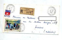 Lettre  Recommandée Agon Sur Duc De Berry  Paris - Marcophilie (Lettres)