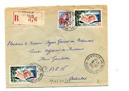Lettre  Recommandée Donville Les Bains Sur Coq Cote Azur - Marcophilie (Lettres)