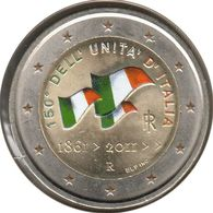 IT20011.2 - ITALIE - 2 Euros Commémo. Colorisée Unification De L'Italie - 2011 - Italie