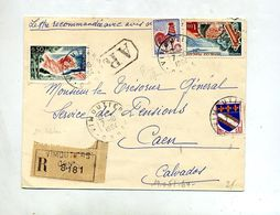 Lettre  Recommandée Vimoutiers Sur Touquet Coq Cote D'azur - Marcophilie (Lettres)