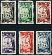 Fezzan 1950, 1-6 Tax, Mosquee, 6val * - Fezzan (1943-1951)