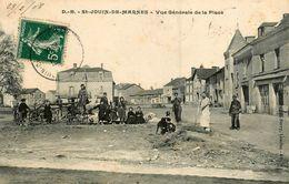 St Jouin De Marnes * 1908 * Vue Générale De La Place * Cycles Anciens Cycle Vélo - Saint Jouin De Marnes