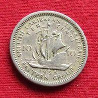 British Caribbean Territories 10 Cents 1955 KM# 5 Caraibas Caraibes Orientales Eastern - Ostkaribischer Staaten
